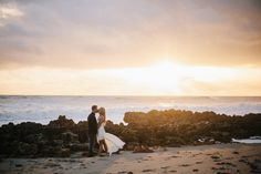 sunrise engagement on the beach. featured on glamour and grace. My favorite engagement photo shoot ever...