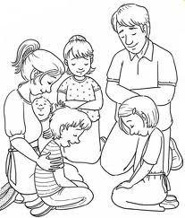Family Prayer Coloring Sheet