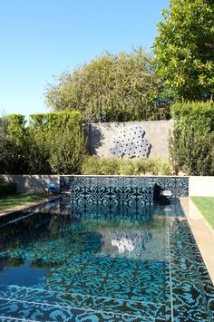 A day in the sun, view the custom pool for Angus M, custom designed and installed with Bisazza glass by Jimmy Reed.