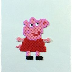 Peppa Pig hama perler beads by titania_complementos