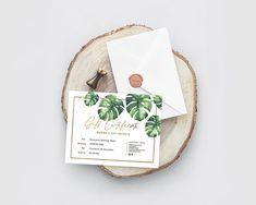 Tropical Gift Certificate EDITABLE Printable template