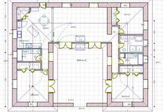 U shaped floor plans shaped home with unique floor plan for Straw bale garage plans