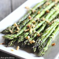 This Garlic Parmesan Roasted Asparagus is made with just a few simple ingredients and makes a perfectly delicious side dish for any meal.