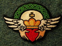 Claddagh Iron on Patch by GerriTullis on Etsy