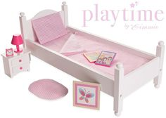 18 Inch Doll Furniture Bed Set American Girl Playtime Eimmie Collection Wood New #Eimmie