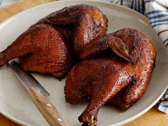 Applewood Smoked Chicken recipe from Patrick and Gina Neely via Food Network