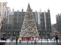 Christmas at PPG Place, Pittsburgh. Ice Skating.