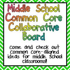 Common-Core Aligned Ideas for your middle school or junior high classroom!! Follow for lots of great ideas :)