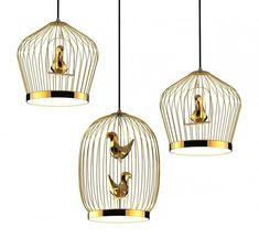 Bird Cage-Inspired Lighting - The Tweetie Pendant Lamp by Jake Phipps is Whimsically Chic