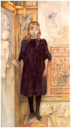 Suzanne, -1894 - Carl Larsson    Place of Creation: Sweden ........#GT