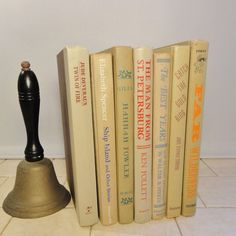 Tan / Pistachio / Chartreuse / Beige / Vintage Hardback Book Bundle - Great 7 Book Collection. $28.00, via Etsy...to go between my doggy bookends :D