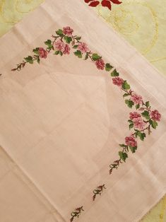 Embroidery Fashion, Bed Sheets, Diy And Crafts, Cross Stitch, Creative, Hair Style, Cross Stitch Embroidery, Towels, Craft