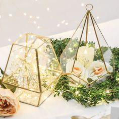 18.5CM INDOOR GARDEN GLASS PLANTER WEDDING CANDLE HOLDER GEOMETRIC TERRARIUM in…