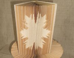 Book folding pattern - Snowflake 1 - Cut And Fold Type - folded book art, origami, gift by BookFoldingBoutique on Etsy