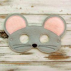 Mouse Mask - Felt - Kids Mask - Animal Mask - Dress Up - Halloween - Pretend Play Duck Mask, Mouse Mask, Felt Kids, Geek Baby, Felt Mask, Animal Masks, Up Halloween, Kindergarten Art, Mask For Kids
