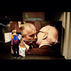 Having fun with Gorbachev and Honecker at the DDR Museum  Taken with Nikon D3100 on Nov 06 2014 in Berlin
