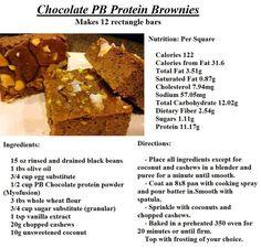 Chocolate PB Protein Bars - sub GF flour