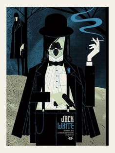 Jack White Columbus concert poster   by Methane Studios