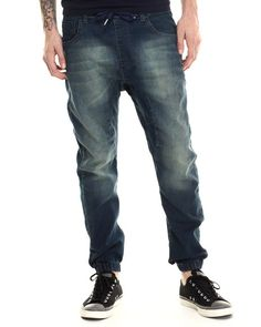 Washed Jogger Denim Jeans by Buyers Picks