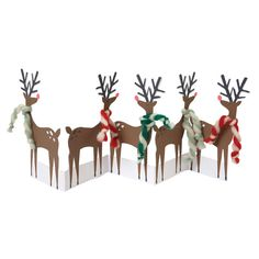 Reindeer Concertina Christmas Card ($5.61) ❤ liked on Polyvore featuring home, home decor and stationery