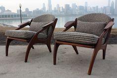 Adrian Pearsall Walnut Lounge Chair (1960's)