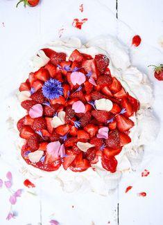 Pavlova – recept med jordgubbar