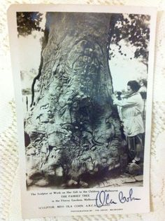 Signed Photographic Postcard - The Fairies' Tree In The Fitzroy Gardens