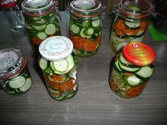 Rezept: Einkochen : Gurken, Zucchini, Karotten. Thing 1, Kimchi, Pickles, Cucumber, Mason Jars, Homemade, Snacks, Food, Internet