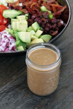 Creamy Balsamic Dressing:  (makes 1 2/3 cups of dressing)  4 cloves garlic, grated  3 tablespoons mayonnaise  2 tablespoons lemon juice  1 Tablespoon Dijon mustard  1 tablespoon sugar  2 teaspoons Morton's Nature's Seasoning  1 1/2 teaspoons salt  1/2 cup balsamic vinegar  3/4 cup extra light olive oil