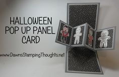 Pop Up Panel card using Cookie Cutter Halloween stamp set from Stampin'Up!