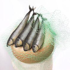 Fish Fascinator Handmade Cocktail Hat Races Hat by MaorZabarHats