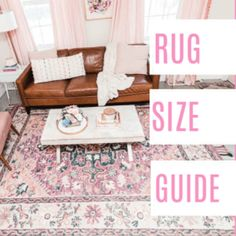 Whether you're looking for your living room, dining, or bedroom I'm sharing how to find the perfect sized rug for your home. I share tips on hard to buy for situations like a sectional, king bed, and round table. Living Room Sectional, Rugs In Living Room, Living Room Rug Placement, Rug Size Guide, Room Color Schemes, Bedroom Layouts, Round Rugs, King, Play Houses