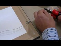 How To Tie Wire On Picture Frames. Great tutorial from a professional picture framer Hanging Artwork, Hanging Frames, Hanging Wire, Framed Artwork, Wall Art, Wire Picture Frames, Craft Tutorials, Diy Projects, Pictures On String