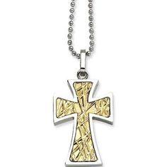0893ca83e858 Allurez Gold Cross Necklace 14K White Gold Open Cross for Men Women ...