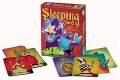 Sleeping Queens by Gamewright. $9.99. From the Manufacturer                A Royalty rousing Card Game. Rise and Shine! The Pancake Queen, The Ladybug Queen and ten of their closest friends have fallen under under a sleeping spell and it's your job to wake them up. Use strategy, quick thinking and a little luck to wake these napping nobles from their royal slumbers. Play a knight to steal a queen or take a chance on a juggling jester. But watch out or wicked potions a...