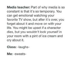*dutch person wondering about the fact that there is a media teacher*