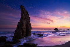 El Matador beach sunset - Malibu, California