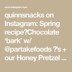quinnsnacks on Instagram: Spring recipe💡Chocolate 'bark' w/ @partakefoods 🍪's + our Honey Pretzel sticks! 🥨🌺👏 . . #glutenfree #foodreels #easyrecipes #edibleflowers… Chocolate Bark, Chocolate Recipes, Gluten Free Pretzels, Pretzel Sticks, Gluten Intolerance, Edible Flowers, Glutenfree, Easy Meals, Honey