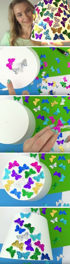 Butterfly Lamp | Cool DIY Projects for Teen Girls Bedrooms