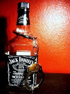 jack daniels and handcuffs ahah love it. Sounds like an interesting night