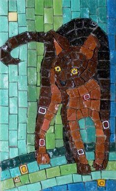 Cat mosaic tiles..