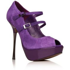 Purple Goldie High Heel Shoes found on Polyvore
