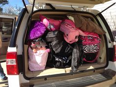 How to pack a car for a road trip. This site has THE BEST ideas I have seen especially if you have more than one kid in the car! #roadtrip #party