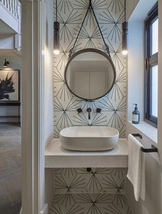 Downstairs cloakroom at this contemporary home in Hertfordshire. Basin and taps tiles Small Downstairs Toilet, Small Toilet Room, Downstairs Bathroom, Small Bathroom, Small Shower Room, Shower Rooms, Bad Inspiration, Bathroom Inspiration, Lavabo Exterior