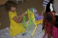 Dramatic Play Hair Salon with Scissors- FUN!