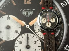 Heuer Autavia issued to the Argentinian Air Force, circa early 1970's.