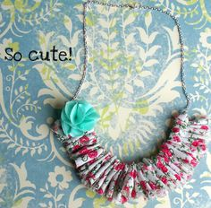 Poppy Chic Designs: Shabby Chic Ruffle Necklace