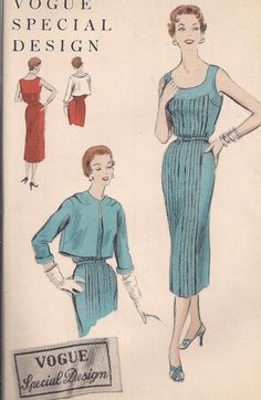 Vintage 1950s Vogue Special Design S-4499 One by PatternsOfYore