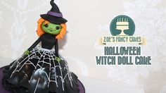 How to make a witch doll cake: In this Halloween cake decorating tutorial I show you how to make a witch doll cake that does not require you to purchase a ba...