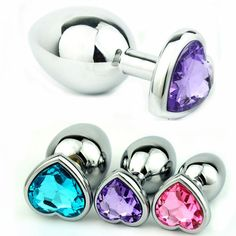 c15ca145f2c Hot Medium Size Heart Shaped Stainless Steel Jewelled Crystal Anal Plug  Jewelry Butt Plug Anal Sex Toys for Couples